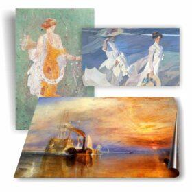 Paintings, antique prints