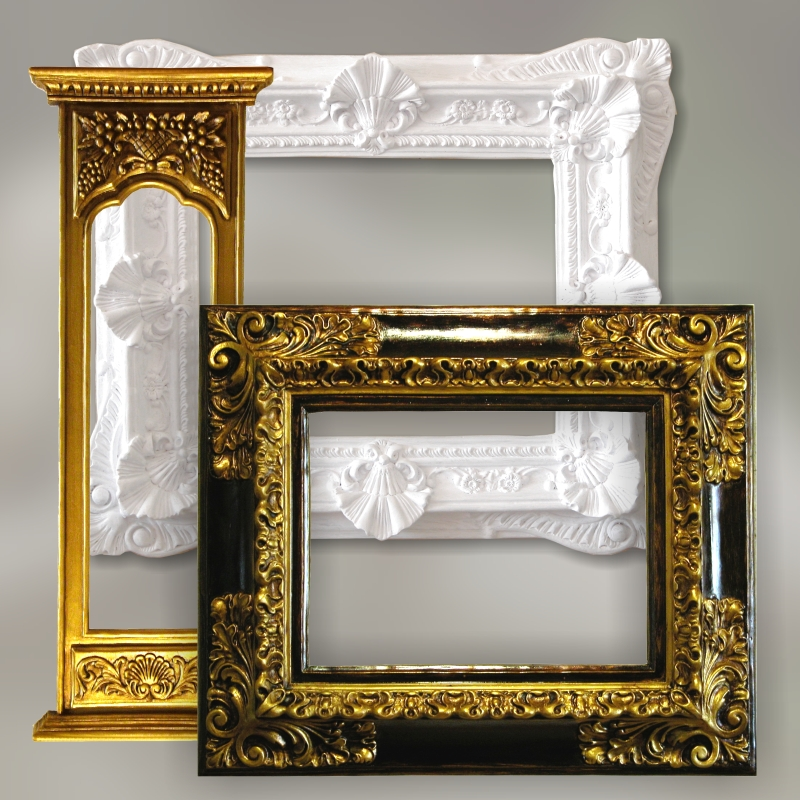 Reproductions of antique frames