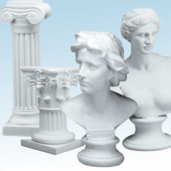 Figure e colonne di gesso